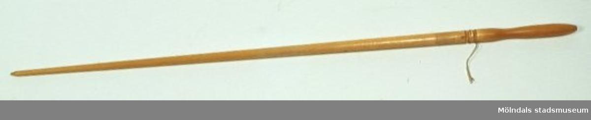Pekpinne som har använts vid Stretereds skolhem.