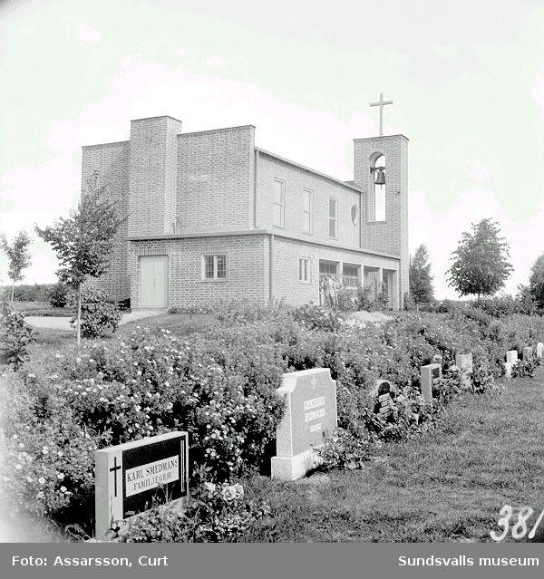 Krematorium och gravkapell å Njurunda nya kyrkogård.