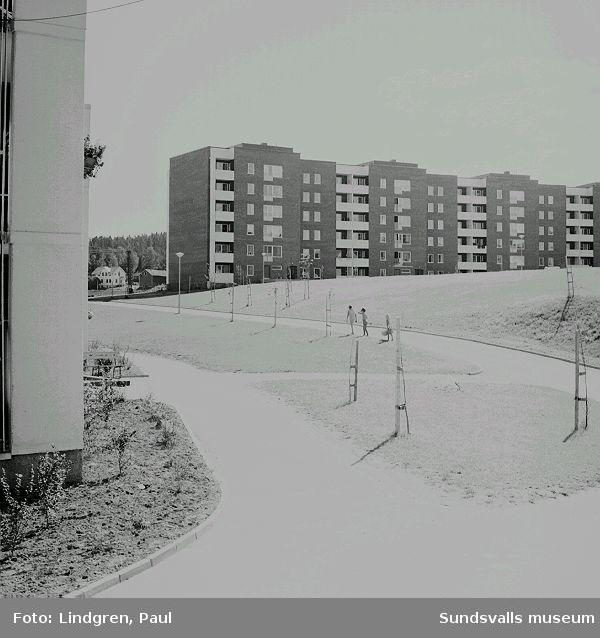 Flerbostadshus i Nacksta, 1970.