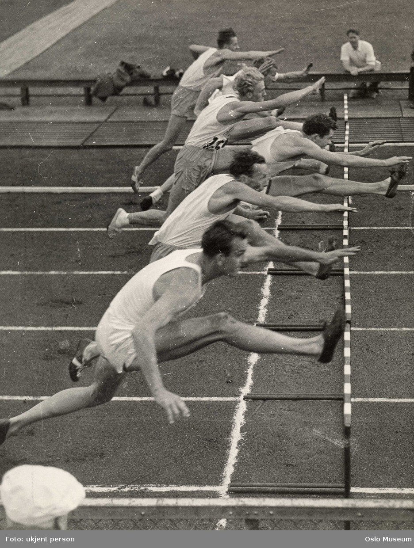 hekkeløp, friidrettslandskamp Norden - U.S.A.