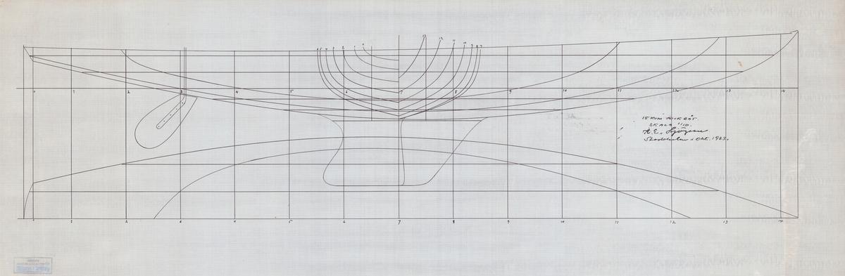 linjeritning, skala 1:10