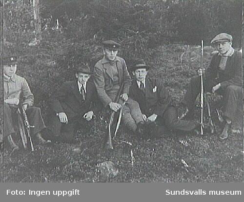 Medlemmar i kamratföreningen Karl XII, Sundsvall, där Erik Modin var medlem.