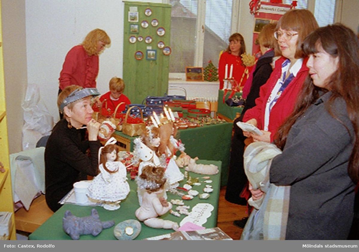 Julmarknad på Mölndals museum 1994-12-03.