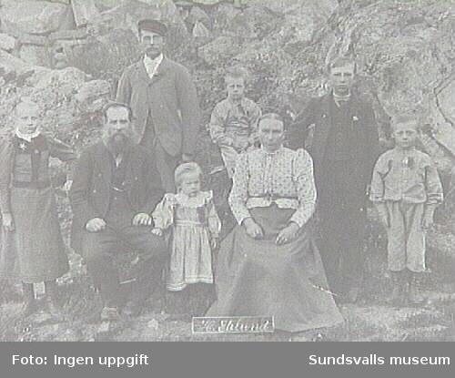 Alnö hembygdsförenings fotosamling.Porträtt taget under patron Öqvists tid som ägare.