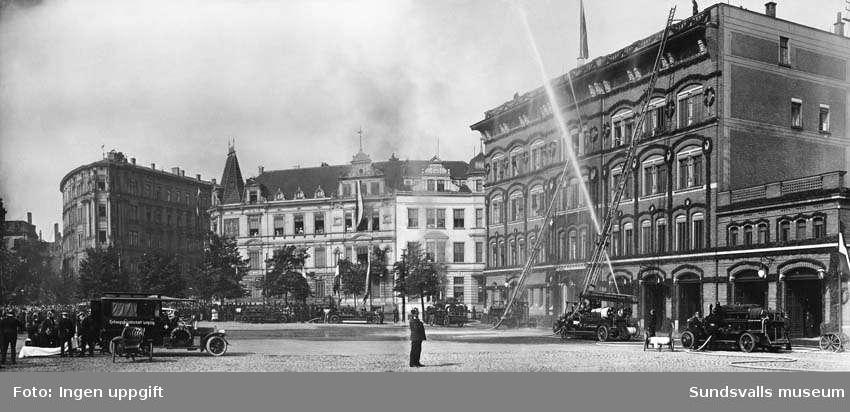 Uppvisning av brandkår och räddningskår i Leipzig. Privata bilder med brandchefen för Sundsvalls brandkår Gustaf Hellgren och hans familj.