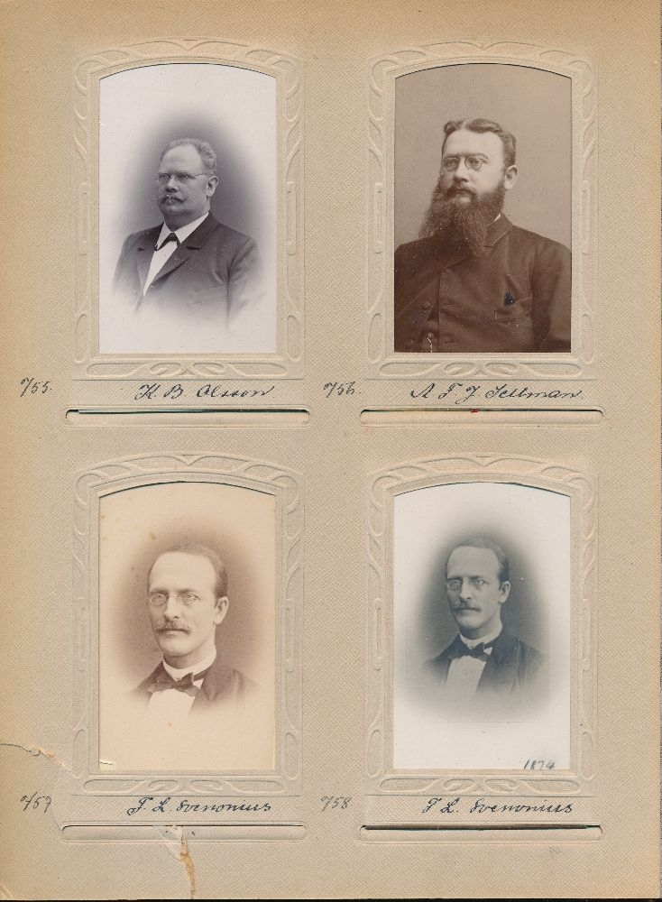 Porträtt av Frans Lorens Svenonius, postmästare i Vänersborg 1890-1903.