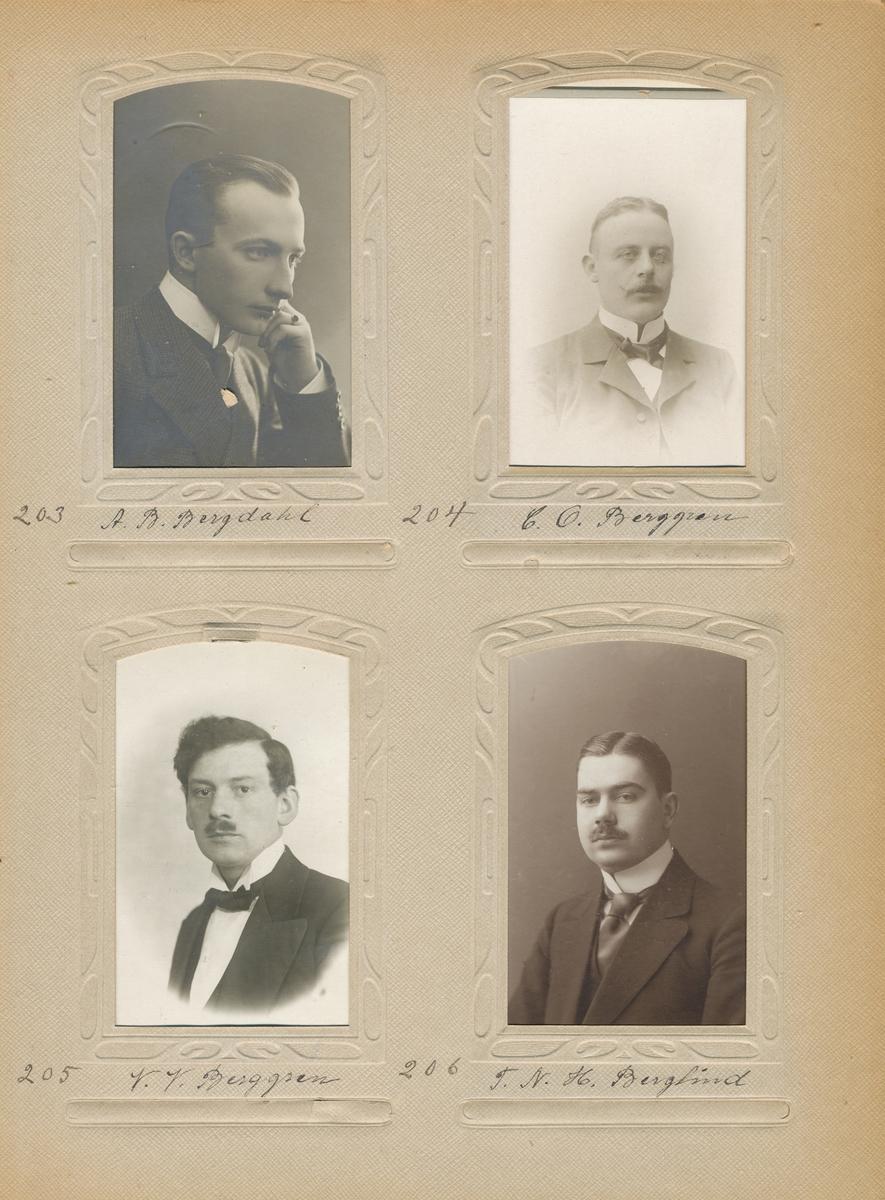Porträtt av Victor Valentin Berggren, postvaktmästare vid Stockholm 1, 1911.