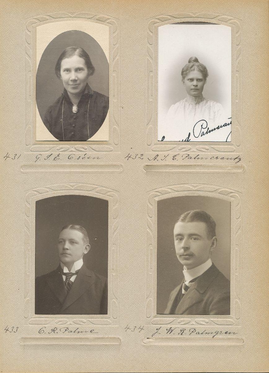 Porträtt av Olof Ragnar Palme, postexpeditör i Sundbyberg 1912.