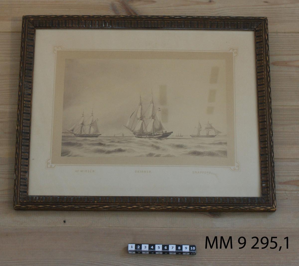 Skeppsgossebrigg byggd 1845, med åtta kanoner. Utrangerad 1883.