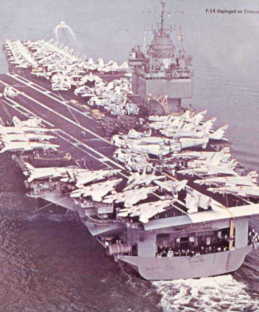 Amerikansk fartøy av Enterprise - klassen med navnet Enterprise og nr. CVN 65.