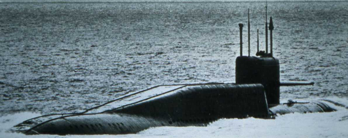 Russisk ubåt av Delta II - klassen.