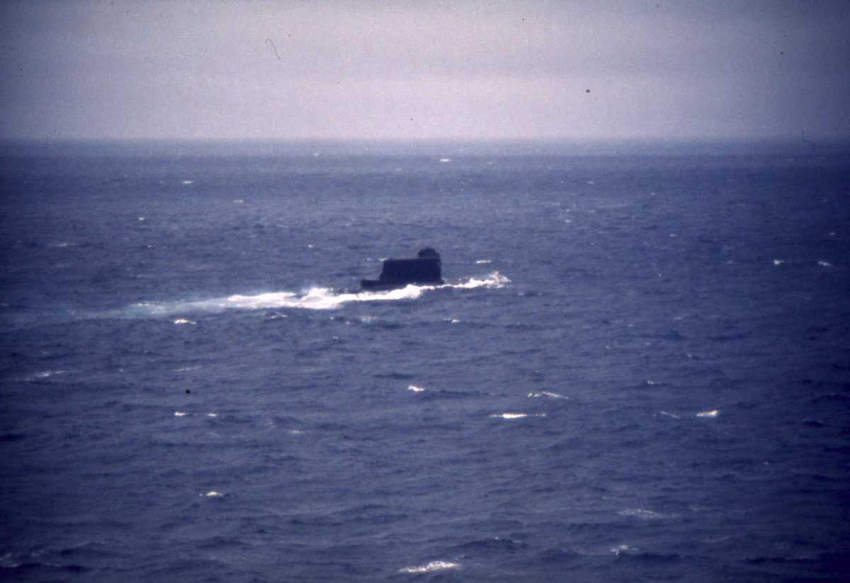 Russisk ubåt av Mod. Golf II - klassen.