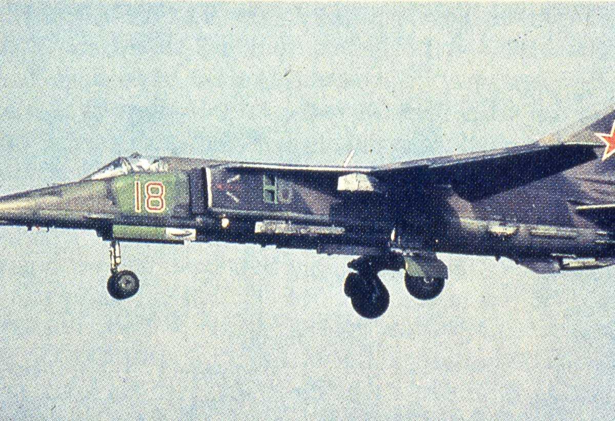 Russisk fly av typen Mig-27K Flogger J2.