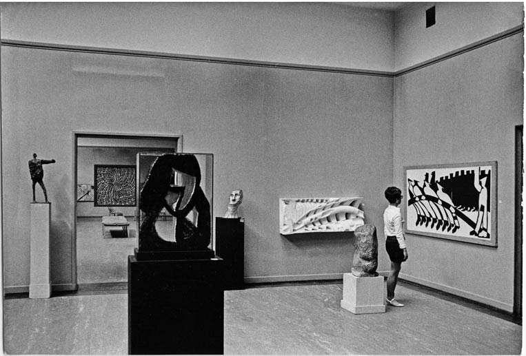 Foto frå Festspillutstillinga i Bergens Kunstforening i 1969.