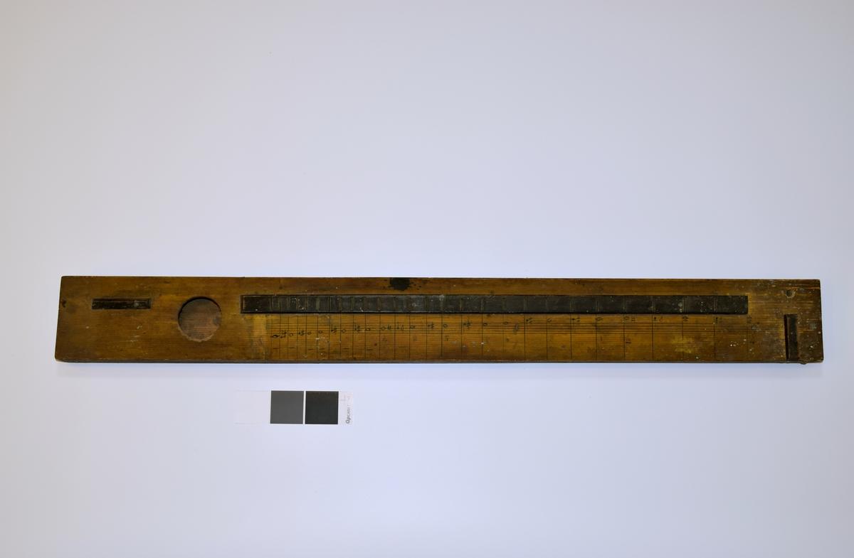 Salmodikon/Psalmodikon, et strengeinstrument. Rektangulær kasse med sirkelformet lydhull.