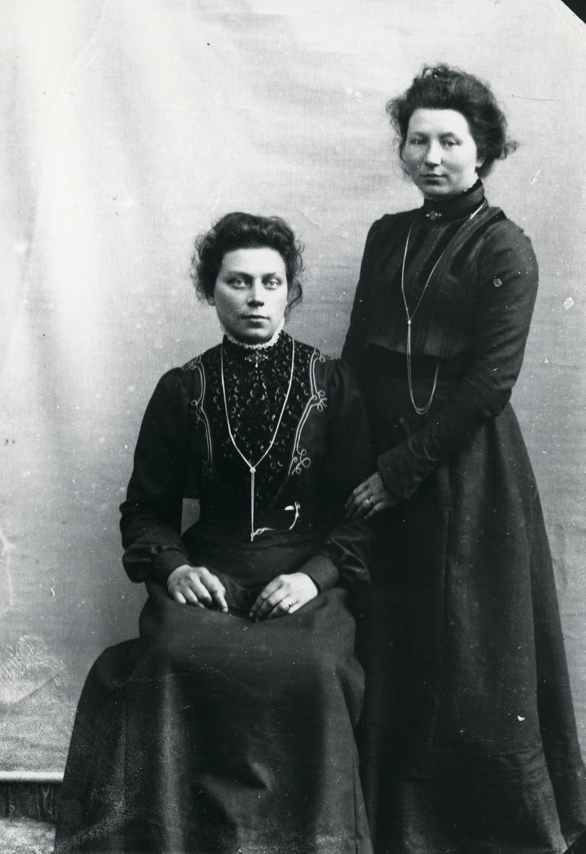 To kvinner foran lerret