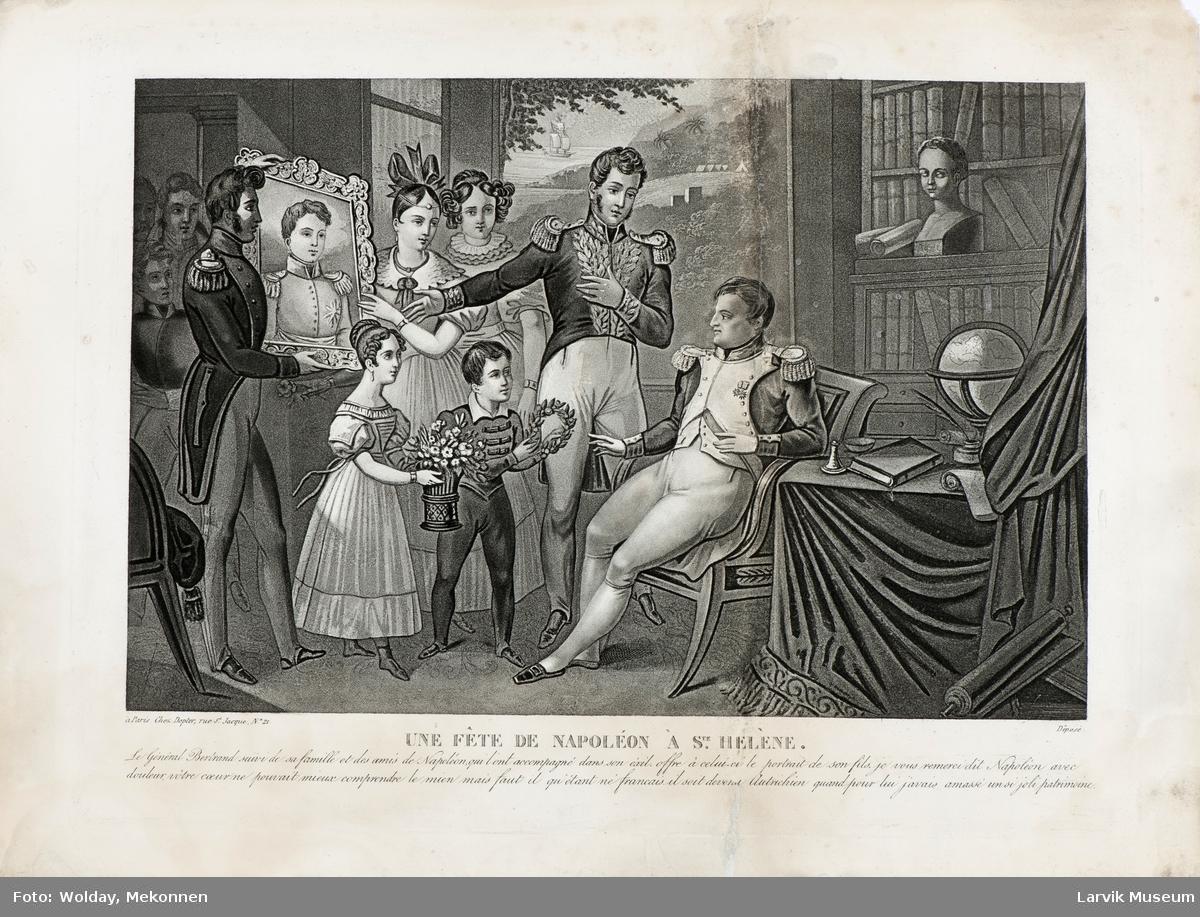 Napoleon blir vist et bilde av sin sønn