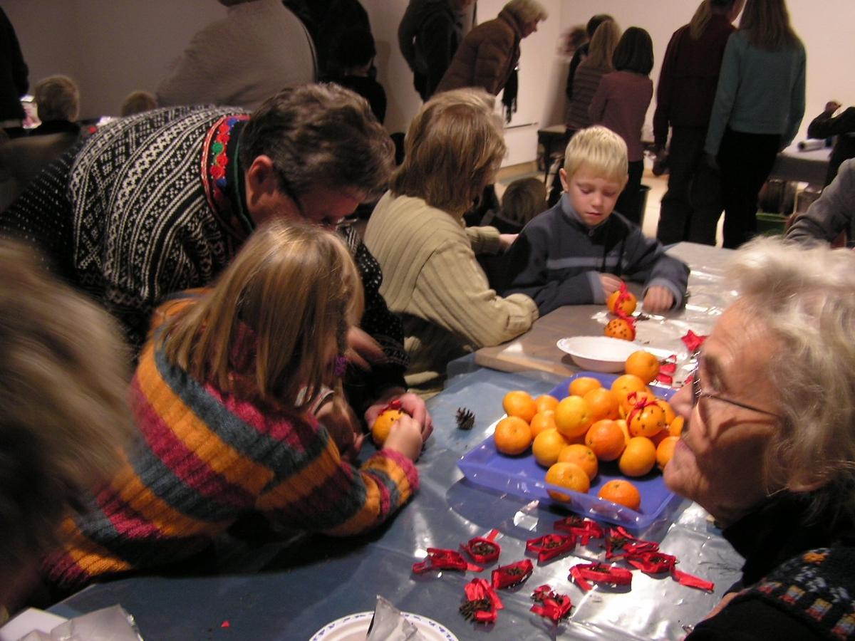 Juleverksted på Berg-Kragerø Museum,  2004