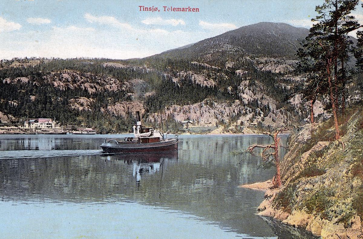 Slepebåten DS Skarsfoss på Tinnsjøen.