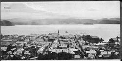 Bybilde, Namsos. 1: Utsikt over sentrum 2: Parken 3: Folkeba