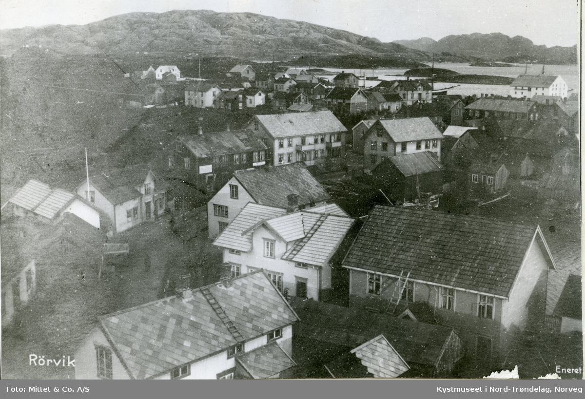 Rørvik sentrum, prospektkort