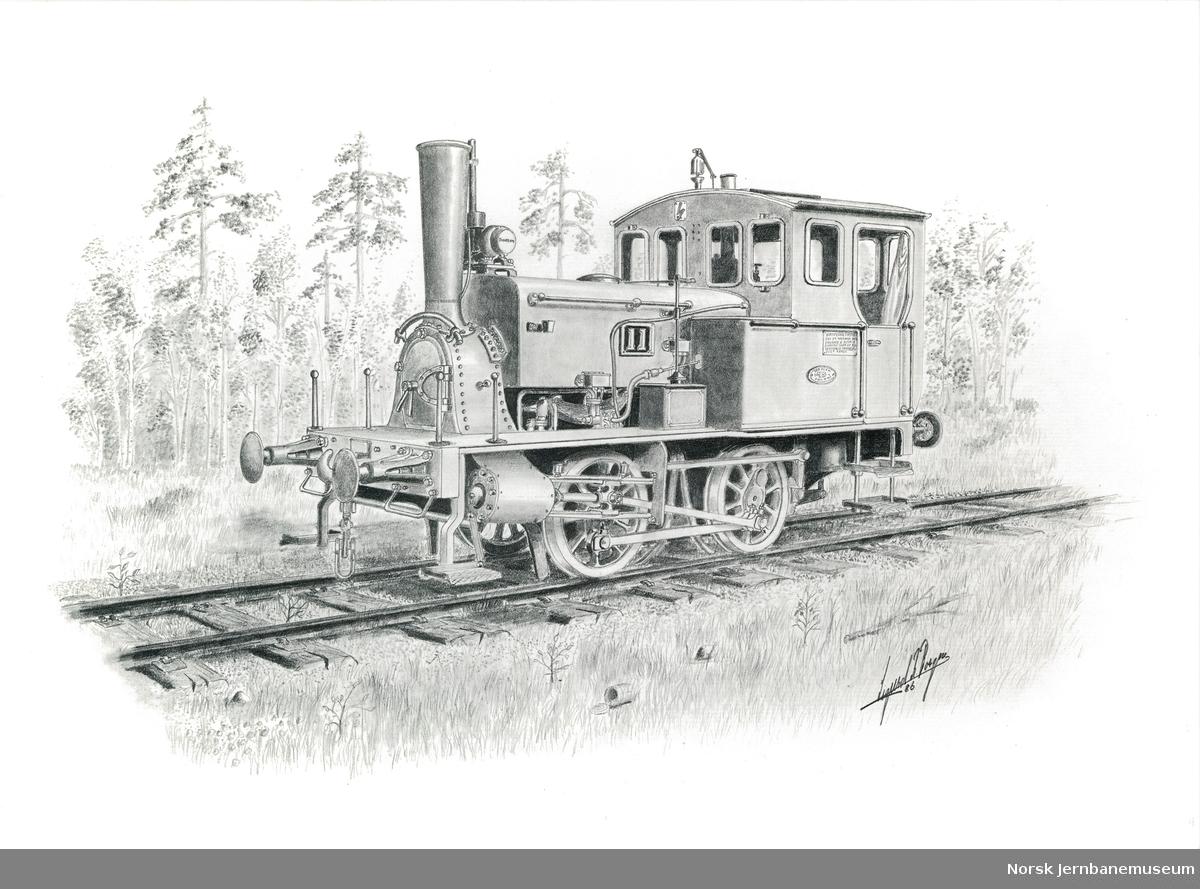 NSB damplokomotiv type 7a nr. 11