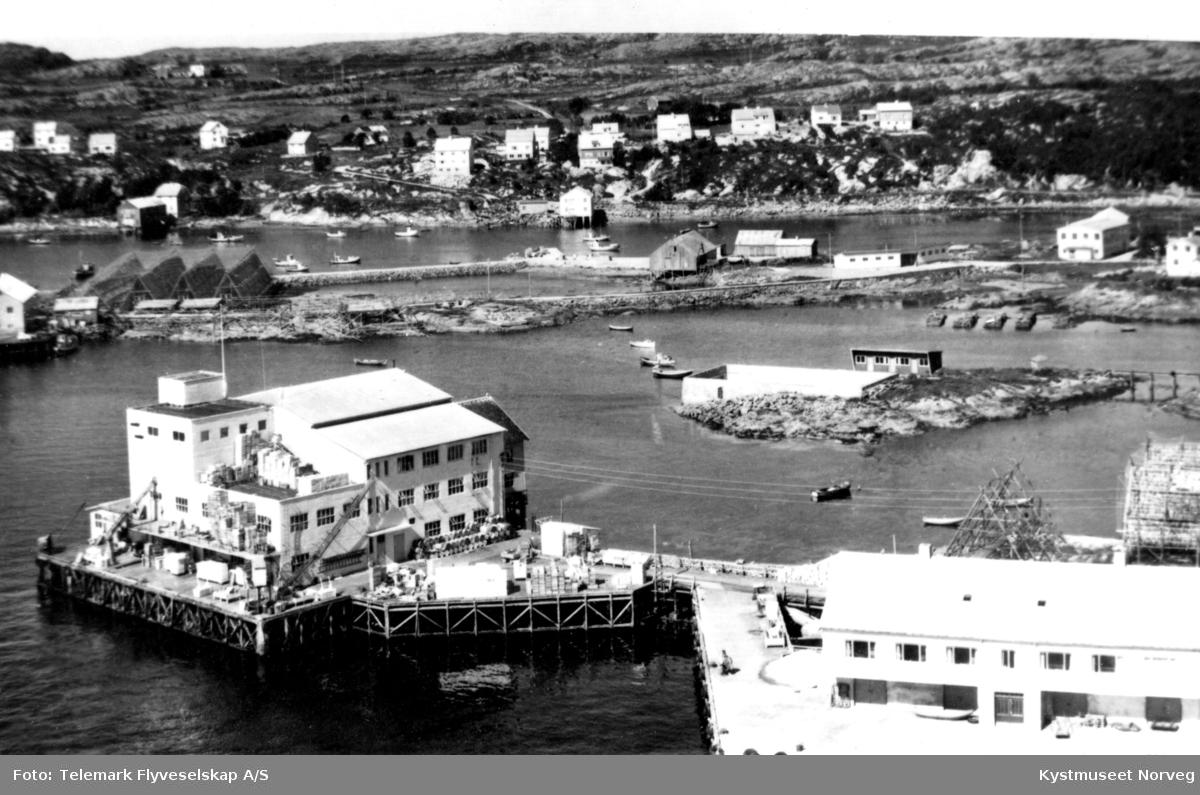 Rørvik havn, flyfoto