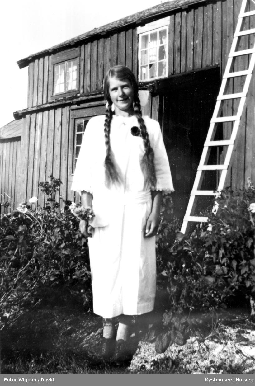 Ida Valø Myhre som konfirmant