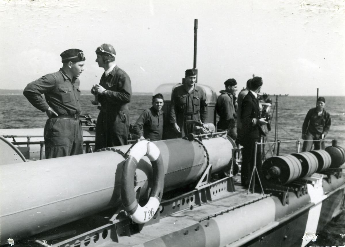 Ombord på motortorpedbåten T 26 i Kustflottan, juli 1944.