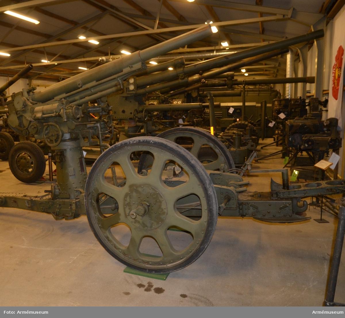 Grupp F I.  Lavett till 8 cm kanon m/1925, Nr 1.
