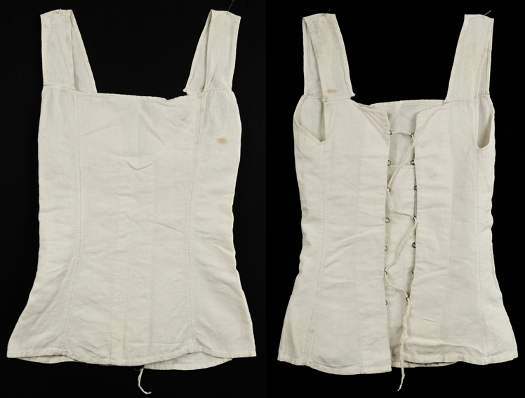 5 svakt innsvingte bredder- 7 snøremaler på hver side i ryggen