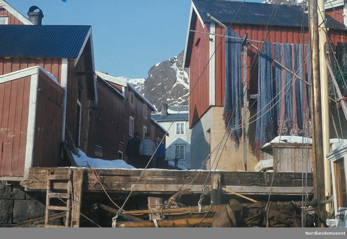 Dias av brygga i Stamsund,Rorbuer.