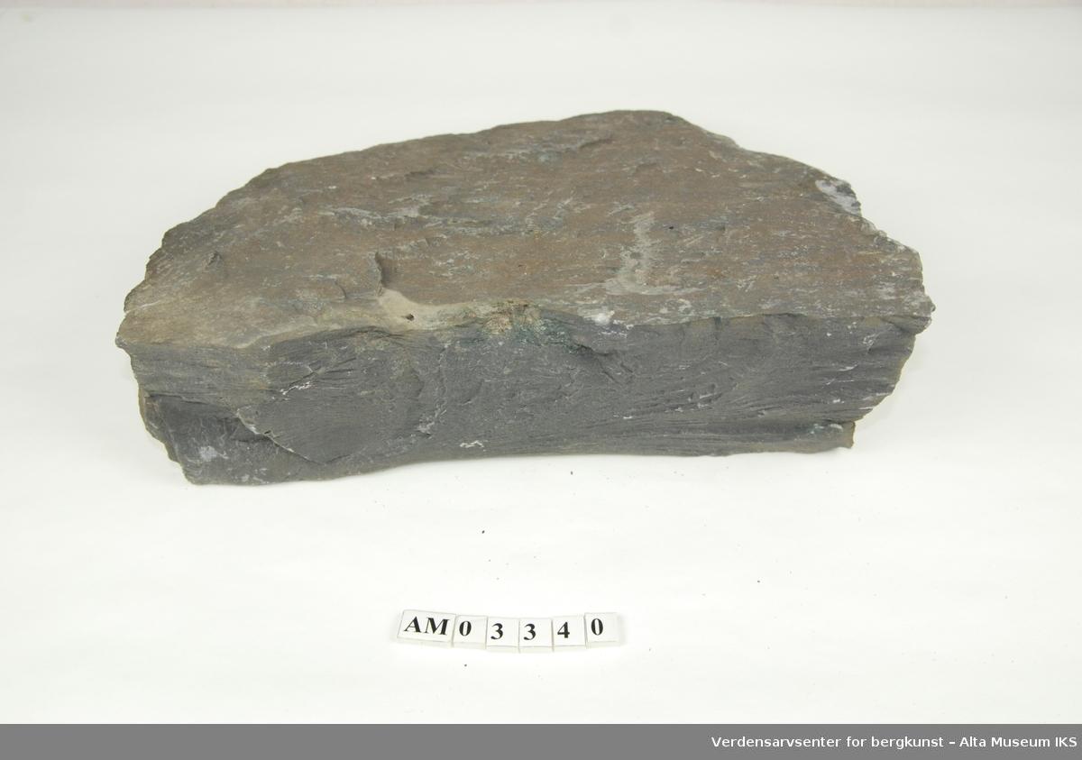 3 stk. slamstein av herdet sand og silt.  Del av samling v/feltkurs i geologi 1999, Alta.