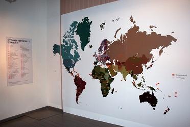 Verdenskart med årstall for kvinnestemmerett (Foto/Photo)