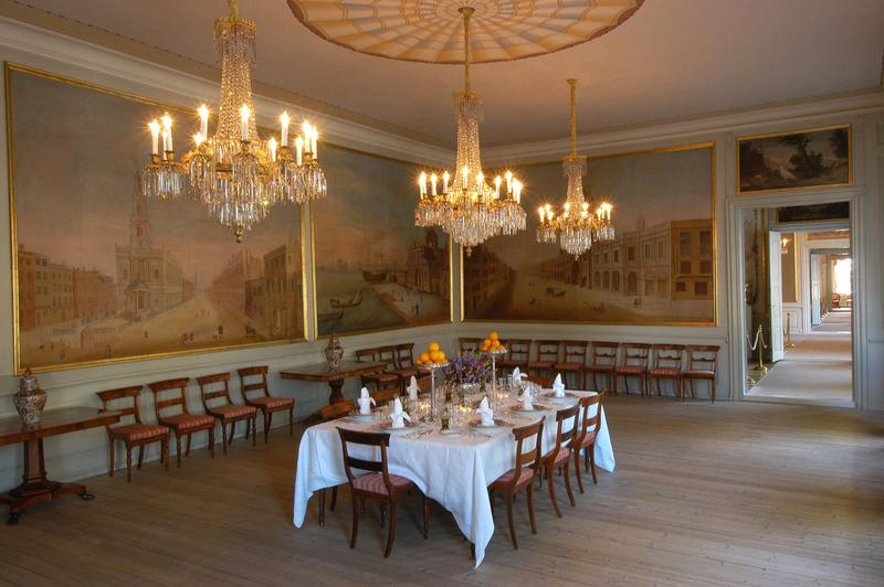 The dining room in the royal residence Stiftsgården