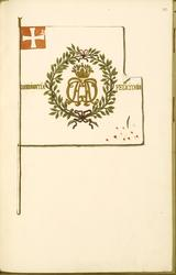 Avbildning i gouache föreställande fälttecken taget som trof