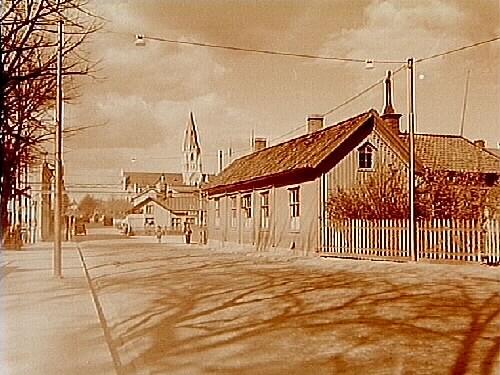 Envånings stationsbyggnad, Sveriges första järnvägsstation på Köping-Hults järnväg.