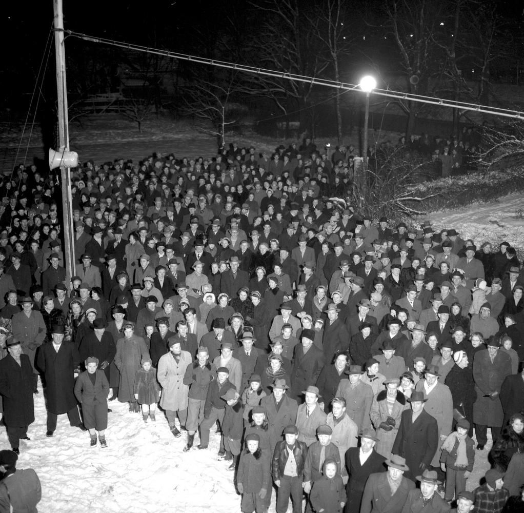 Nyårsafton 1954.Frövi blir Köping.3 januari 1955.