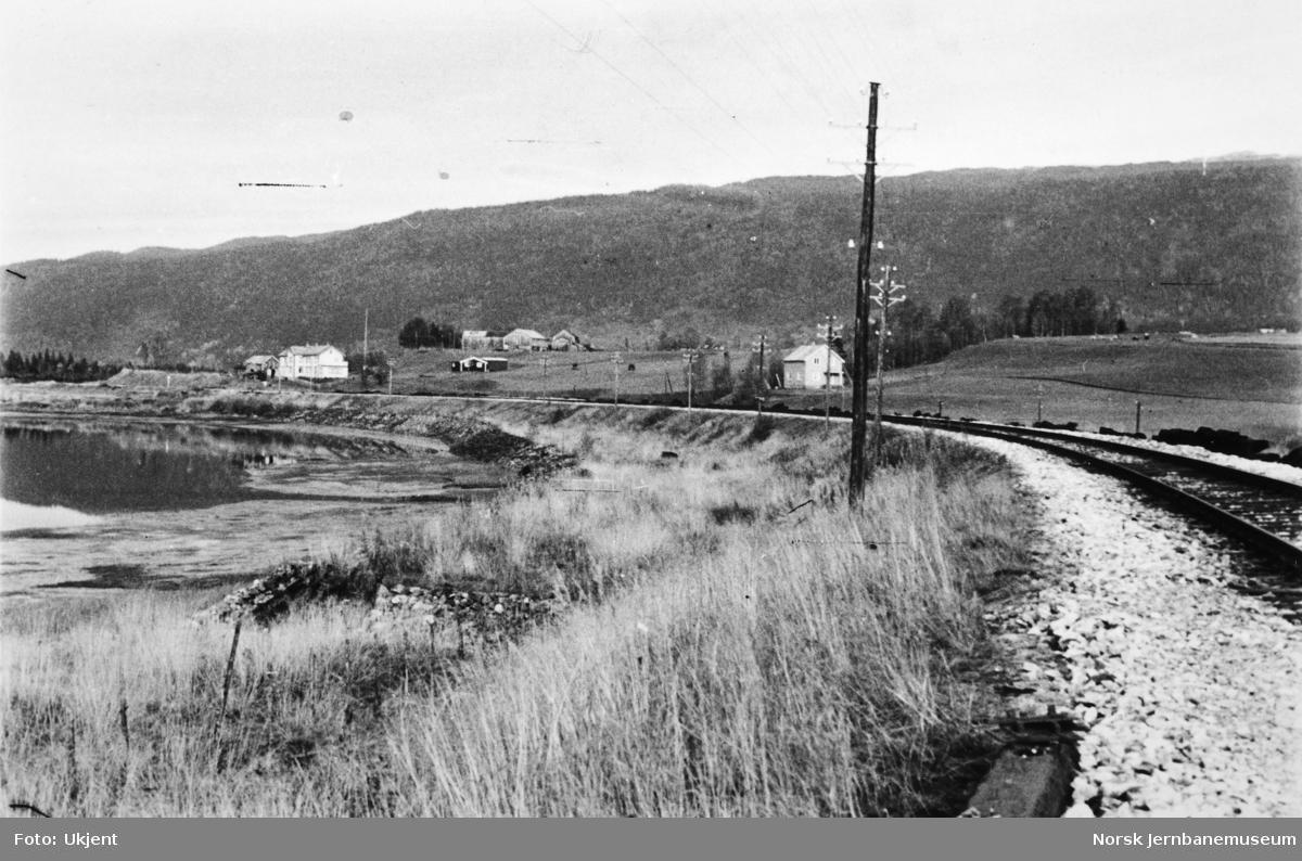 Jernbaneanlegget Mosjøen-Mo i Rana : linjen mot Bjerka stasjon, pel 6220