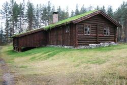 Seterstua på Melgårdssetra sett fra nord vest. (Foto/Photo)