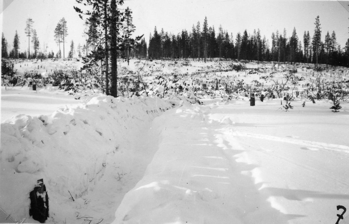 Finlandskriget. Ryskt snövärn.