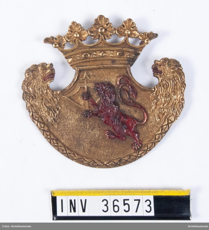 Grupp C II. Avsedd för sabeltaska av äldre modell i bruk till år 1835.