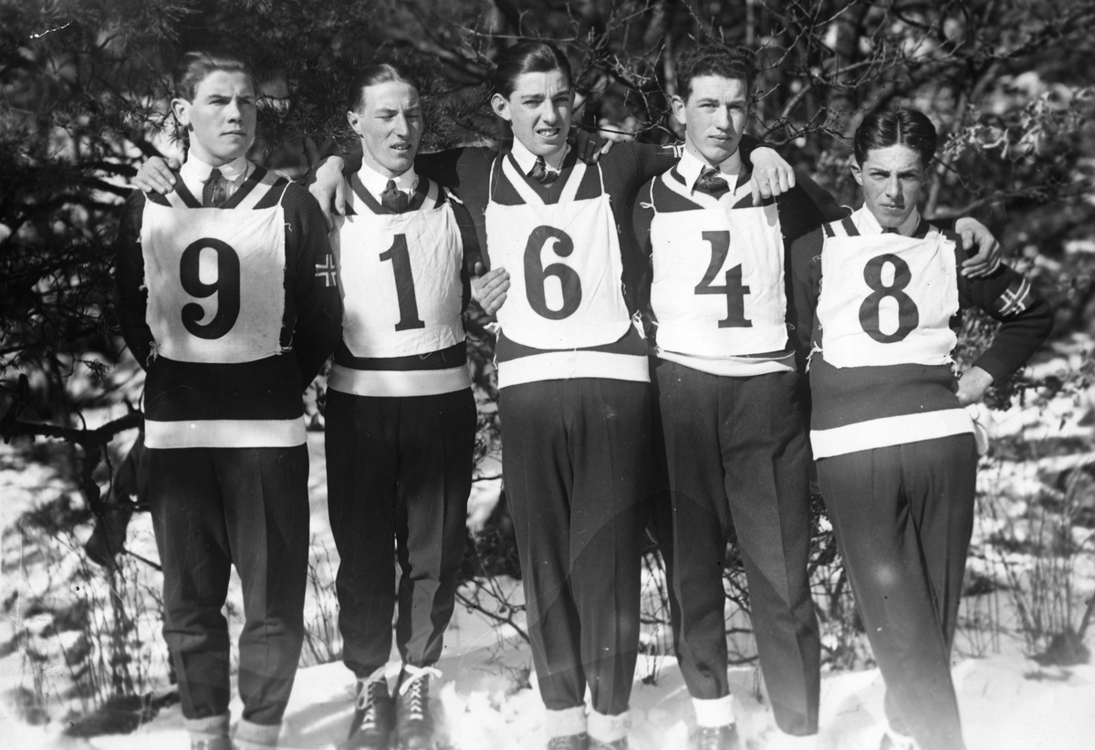 The Norwegian ski jumping team