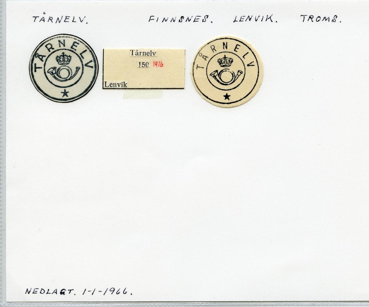 Stempelkatalog Tårnelv, Finnsnes, Lenvik, Troms