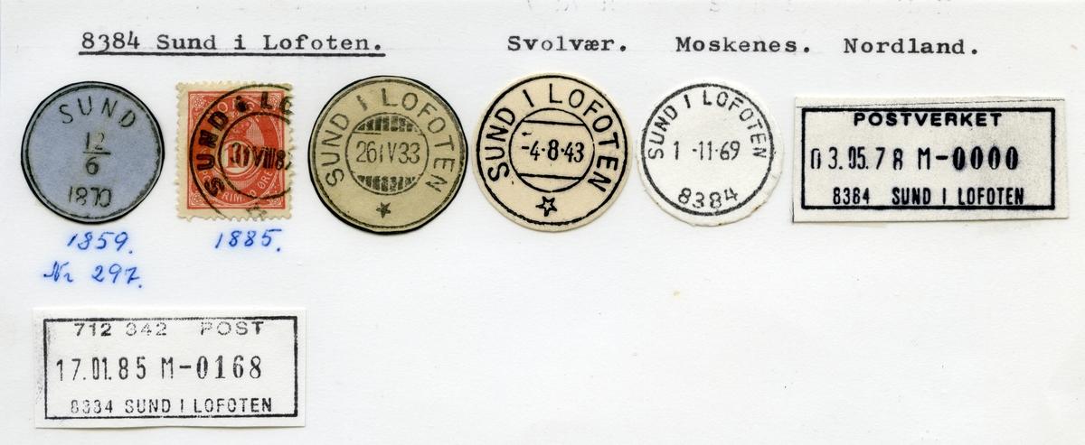 Stempelkatalog 8384 Sund i Lofoten, Moskenes, Nordland