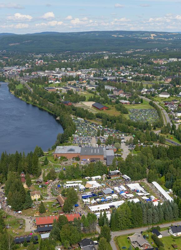 Norsk Skogmuseum fotografert fra helikopter under De nordiske jakt- og fiskedager 2014. (Foto/Photo)