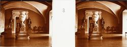 "Stereobild av officerssalen i Chateau de Pau. ""Salle des Of"