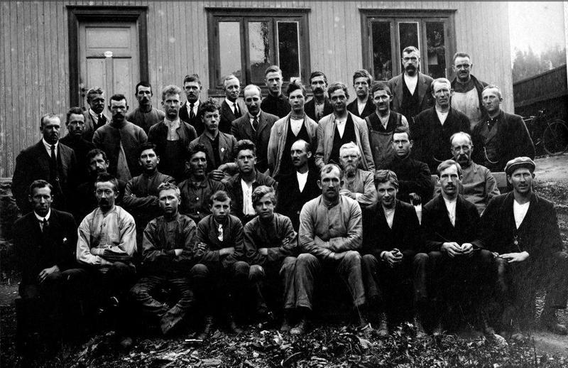 Arbeidsgjengen hos Anker & Jensen 1924 (Foto/Photo)