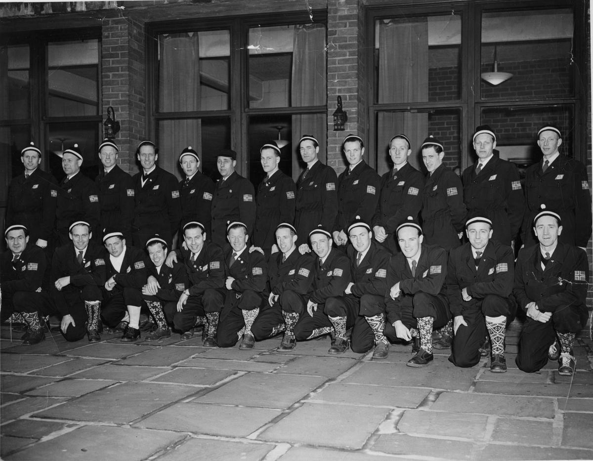 The Norwegian skiing team in USA 1950