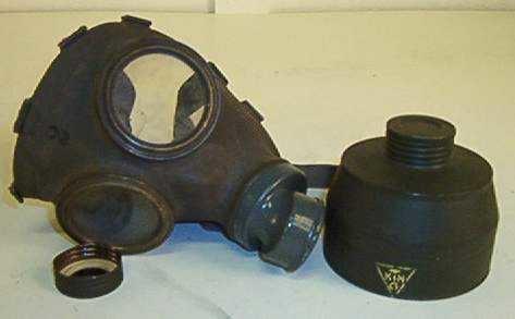Gassmaske M/1939 i originalforpakning.